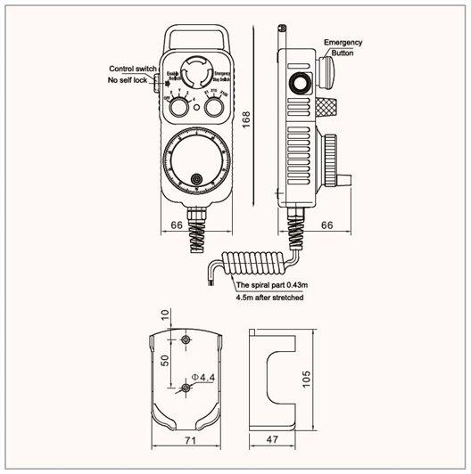 Pendant 6 axis 100P MASSO-CNC DIY