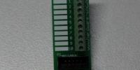 IDC 10p terminal -flat cable>Screw terminal- (paneel)